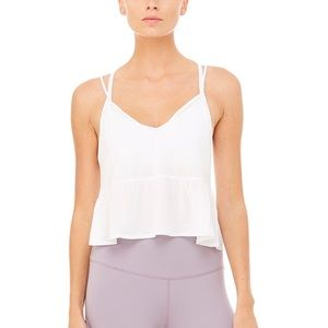 NWT Alo yoga flutter tank Xs
